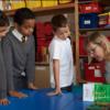 Karen Inglis on a school visit