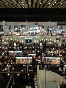 Aerial view of London Book Fair 2013