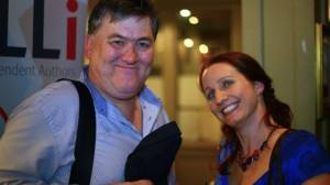 Photo of Paul Murphy with Joanna Penn