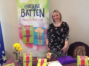 Caroline Batten at signing table