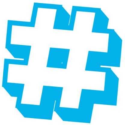 Image result for Image of Hashtag logo