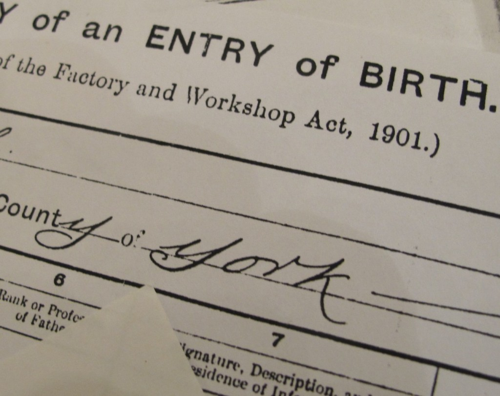 Birth certificate example