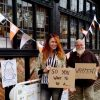 Roz with Peter outside his bookshop
