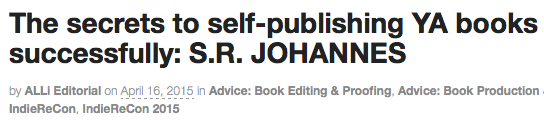 How to Self-Publish YA
