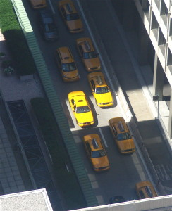photo of many yellow cabs