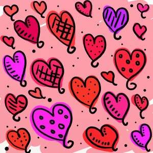 graphic of lots of hearts