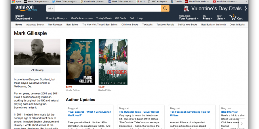 How And Why To Set Up An Amazon Author Page By Mark GIllespie