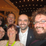 Selfie with Hugh Howey, Diego Marano and ALLi's Orna Ross, Debbie Young, and Jessica Bell