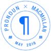 Pronoun / Macmillan logo