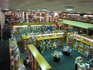 The Norrington Room at Blackwell's in Oxford, the largest book-selling room in the world.