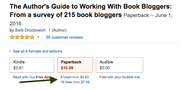 Screenshot of a book listed on Amazon