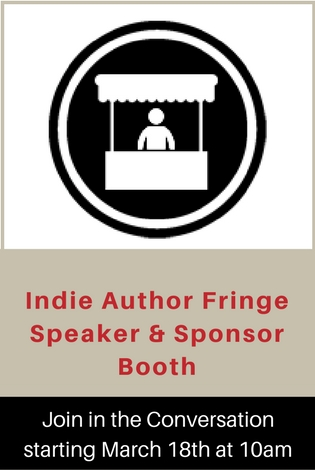 Indie Author Fringe Speaker and Sponsor Booth