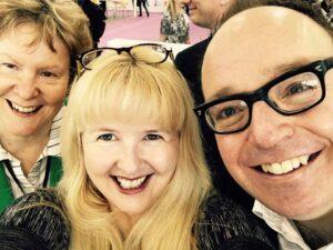 Alison Morton, Rebecca Lang and Mark Dawson selfie
