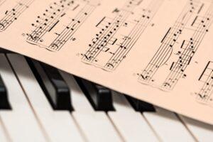 piano music on a keyboard