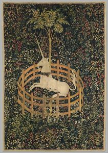 unicorns are one of fandom's staples: are they in danger of extinction? (image from Museum of Metropolitan Art)