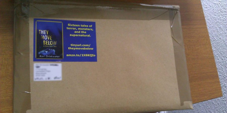 Pic Of Parcel With Promotional Sticker On It