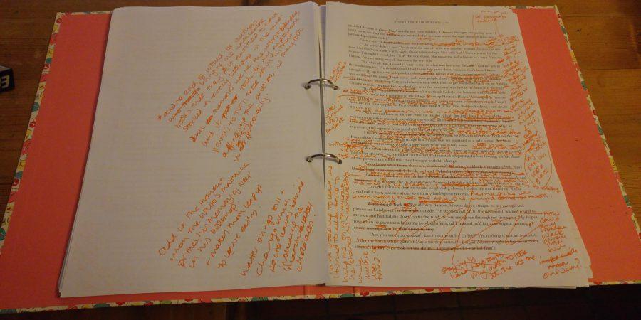 Image Of Heavily Edited Manuscript