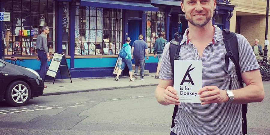 Photo Of Jonathan With Book Outside Blackwell's