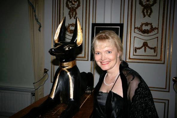 Photo Of Leena Pekkalainen With Ancient Egyptian Artefacts