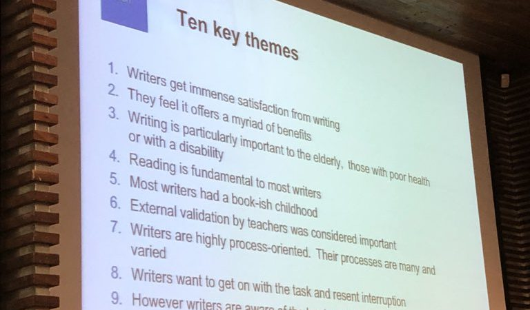 Slide From The What Makes A Writer Event