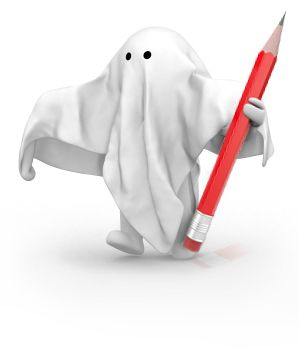 Ghost Holding Pencil
