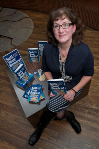 "Debbie Young at the launch of ""Sell Your Books!"""