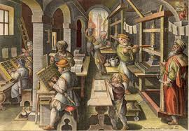 Classic Image Of Caxton-style Press