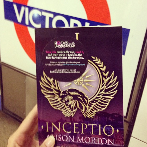 Alison Morton's Debut Novel, Inceptio, On The London Underground