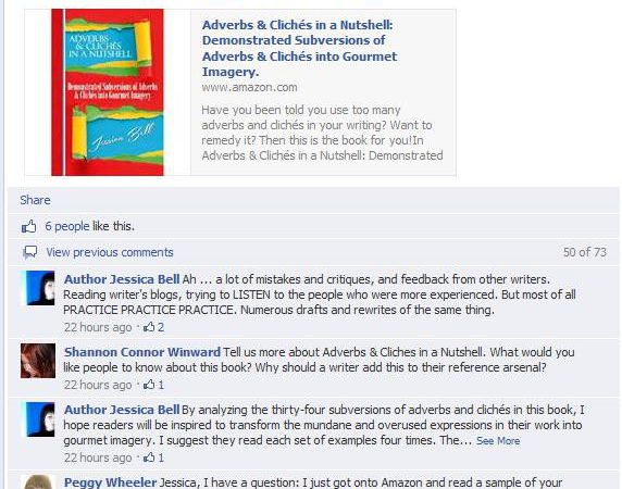 Facebook Author Interviews. 50 Ways To Reach Your Reader #11. By Jessica Bell.