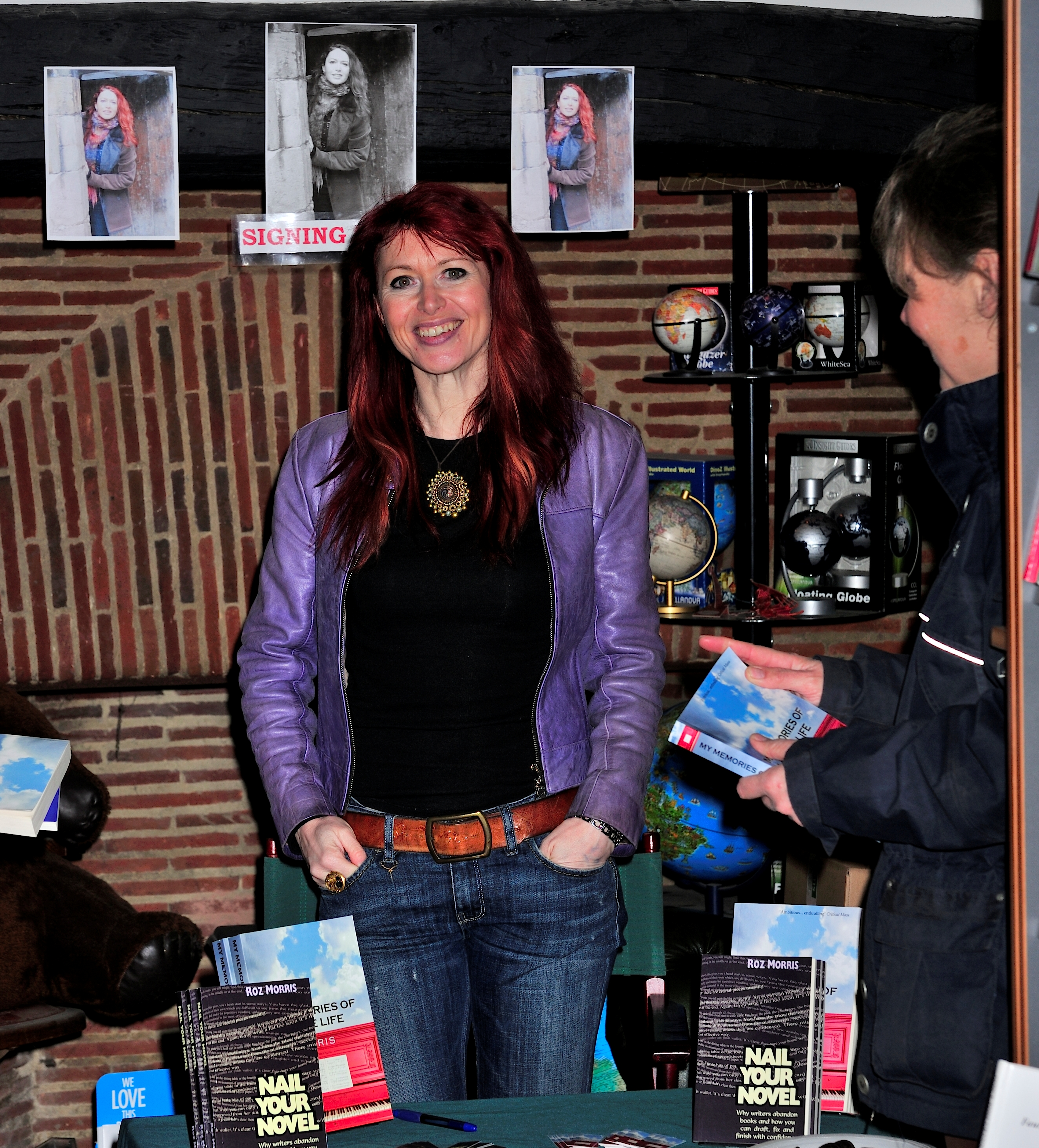 Indie Author Roz Morris Signed Her Self-published Books In A Bookshop