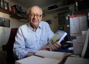 Rex Garland - debut novel at age 85. Photo: Chichester Observer