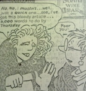 Extract from Posy Simmonds cartoon, copyright Posy Simmonds