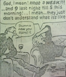 Extract from Posy Simmonds cartoon, copyright Posy Simmonds
