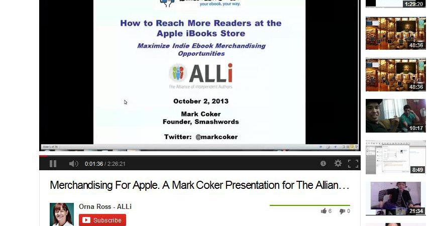 Mark Coker's Smart Self-publishing Strategies. Part Two: Merchandising For Apple IBooks.