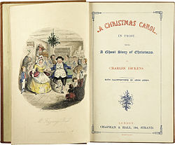Frontispiece Of First Edition Of Charles Dickens' A Christmas Carol