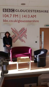 Debbie Young at the BBC Radio Gloucstershire studio in Gloucester