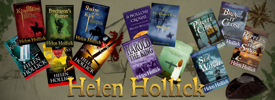 Covers of all of Helen Hollick's novels
