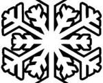 simple snowflake graphic