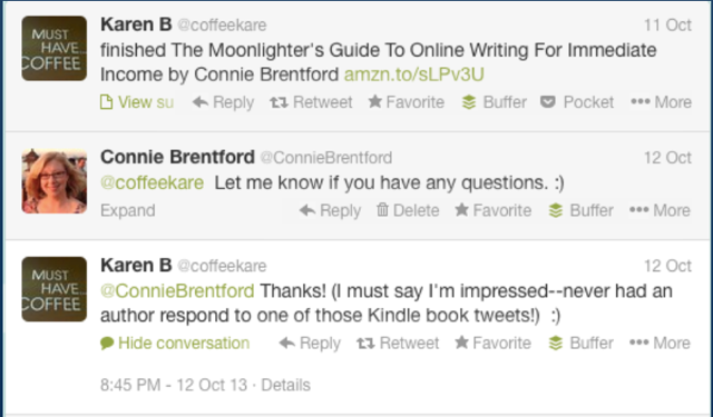 Screenshot of a reader's tweet