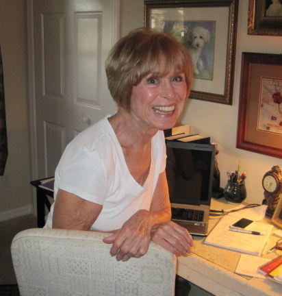 The Bestselling Author Bette Lee Crosby At Her Desk