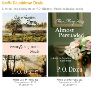 Screenshot of Pam Dixon's Kindle Countdown Deals page