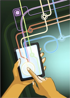 Graphic Of A Touch Screen In Use