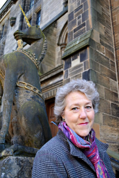 Linda Gillard Outside A Scottish Castle