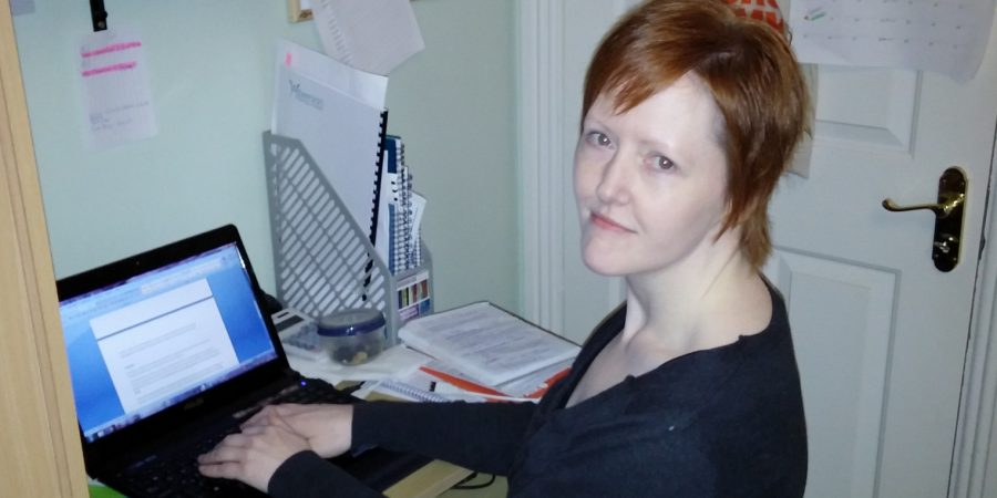 The Author Eliza Green At Her Desk