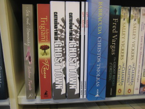 Catriona Troth's book on display in her local bookshop