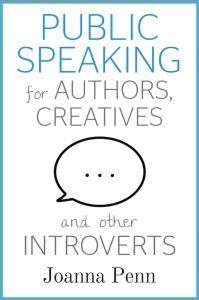 Cover of Joanna Penn's book on public speaking