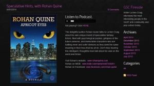63Rohan Quine on 'Fireside' podcast with Lichen Craig