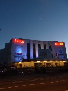 Photo of exterior of Earl's Court at dusk