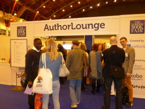 Photo of the entrance to the Author Lounge LBF13