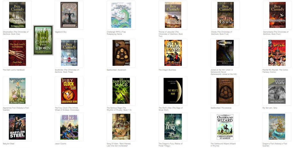 Selection of fantasy book covers